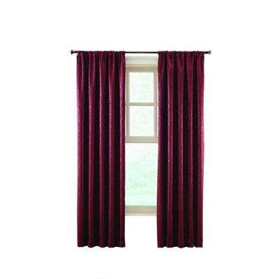 Stylized Scroll Embossed Darkening Curtain