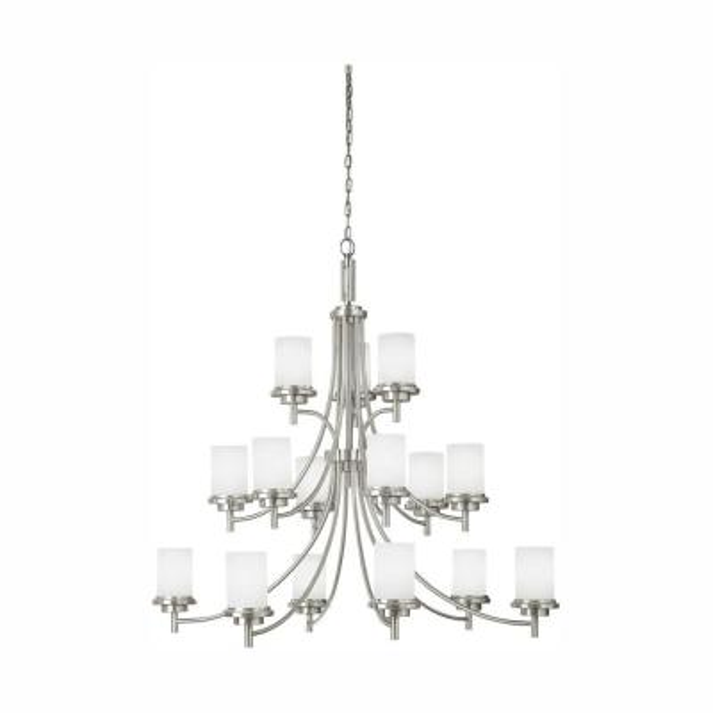 Winnetka 15-Light Brushed Nickel Chandelier with LED Bulbs
