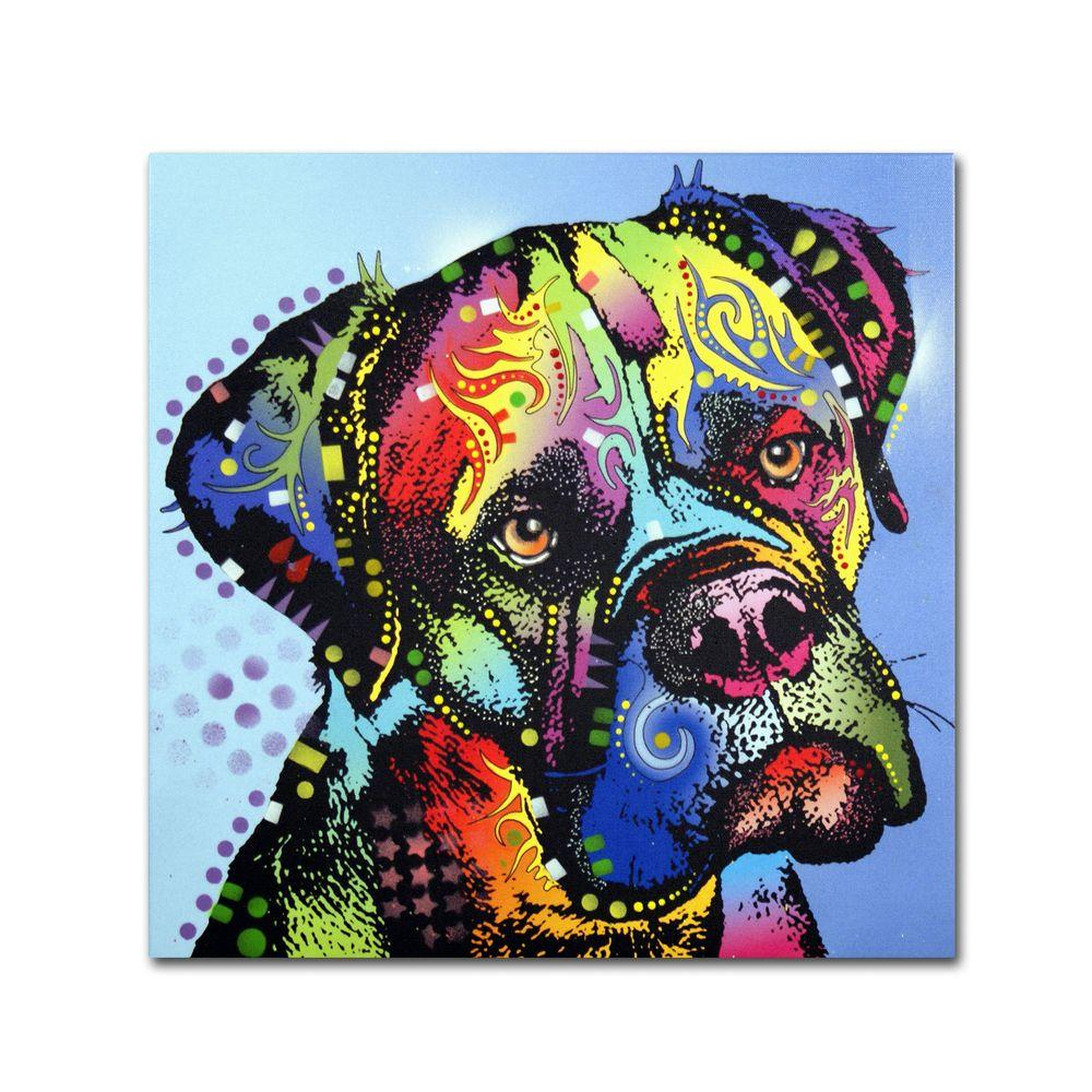 Trademark Fine Art 18 in. x 18 in. Mastiff Warrior Canvas Art