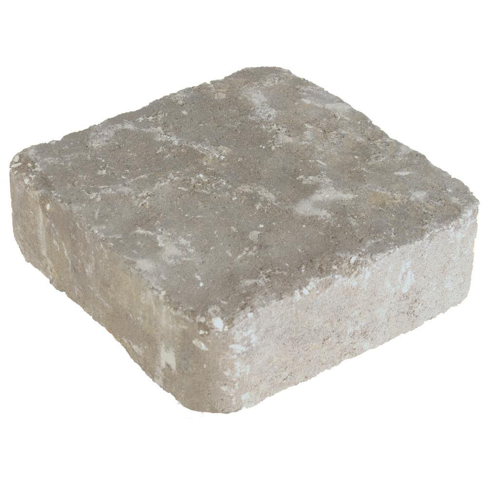 Marseilles 7 in. x 7 in. x 2.25 in. Silex Gray Concrete Paver