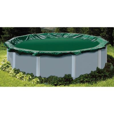 Swimline 18 ft. x 36 ft.  Oval Ripstopper Aboveground Winter Cover with 22 ft. x 40 ft. Cover Size