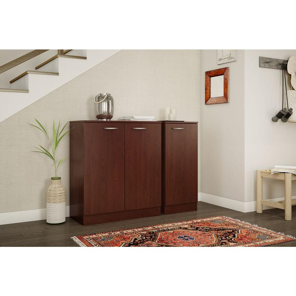 South Shore Axess Royal Cherry Storage Cabinet-10185