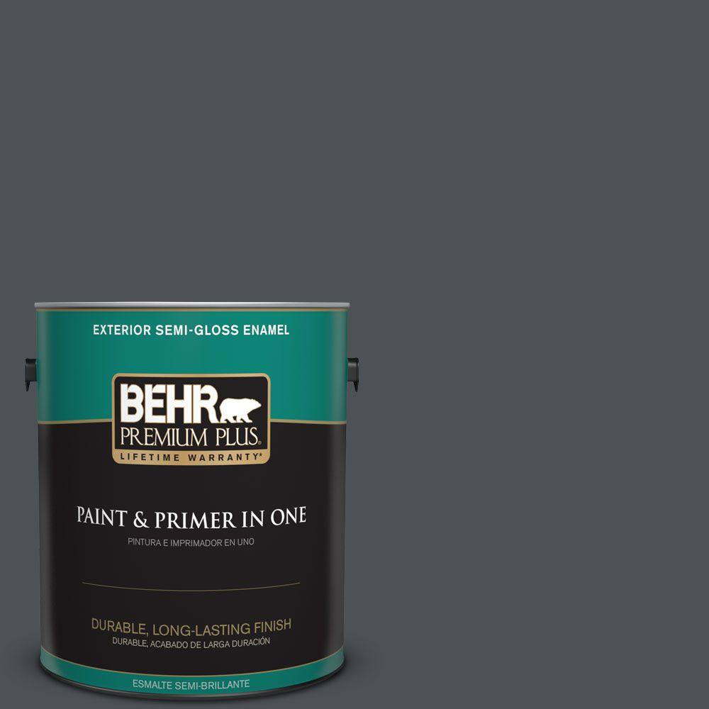 1 gal. #HDC-WR15-4 Lump Of Coal Semi-Gloss Enamel Exterior Paint