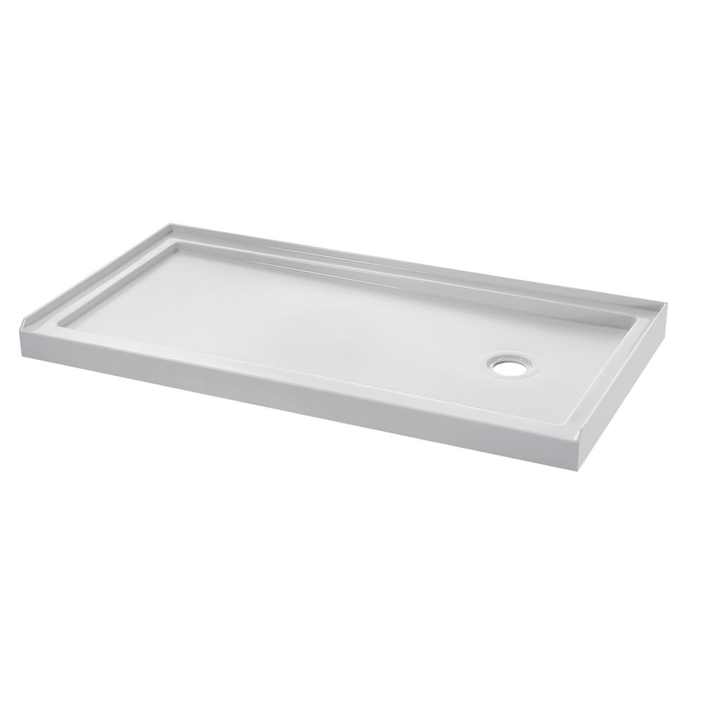 Wet Republic Equinox 60 In W X 30 D Lucite Acrylic Shower Base
