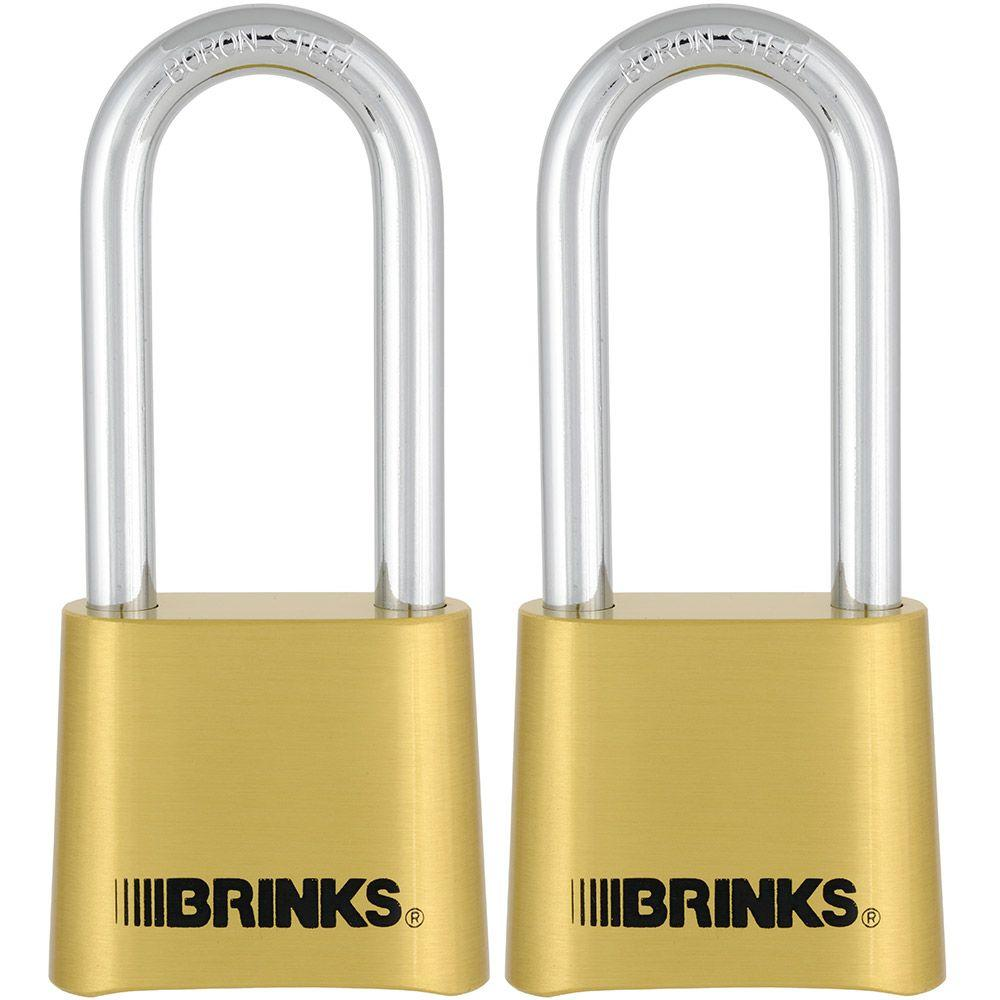 Brinks Home Security 2 in. Resettable Combination Padlock (2-Pack)
