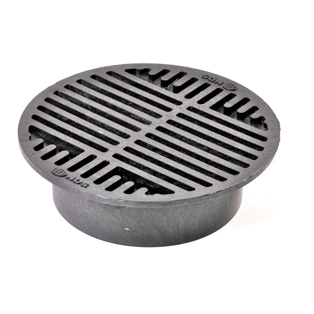 8 in. Plastic Black Grate