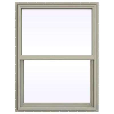 35.5 in. x 47.5 in. V-4500 Series Single Hung Vinyl Window - Tan