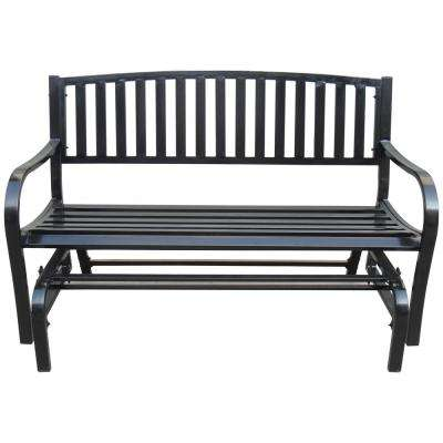 4 ft. Outdoor Patio Steel Glider Porch Chair Loveseat Bench