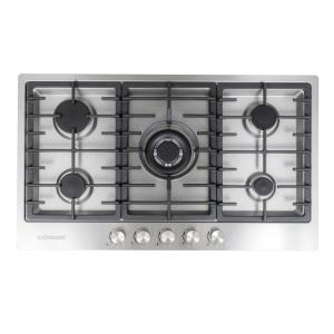 Gas Cooktop In Stainless Steel With 5 Italian Made Burners