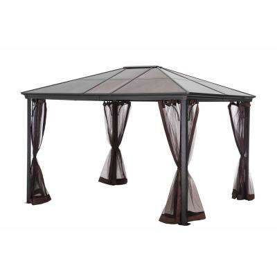 Seville Polycarbonate 10 ft. x 12 ft. Top Gazebo With Netting