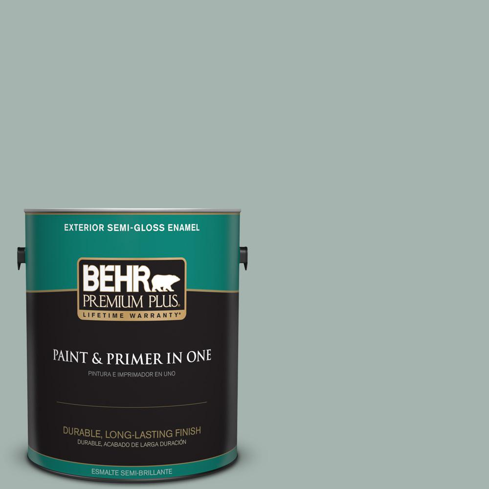 1 gal. #PPU12-09 Frozen Pond Semi-Gloss Enamel Exterior Paint