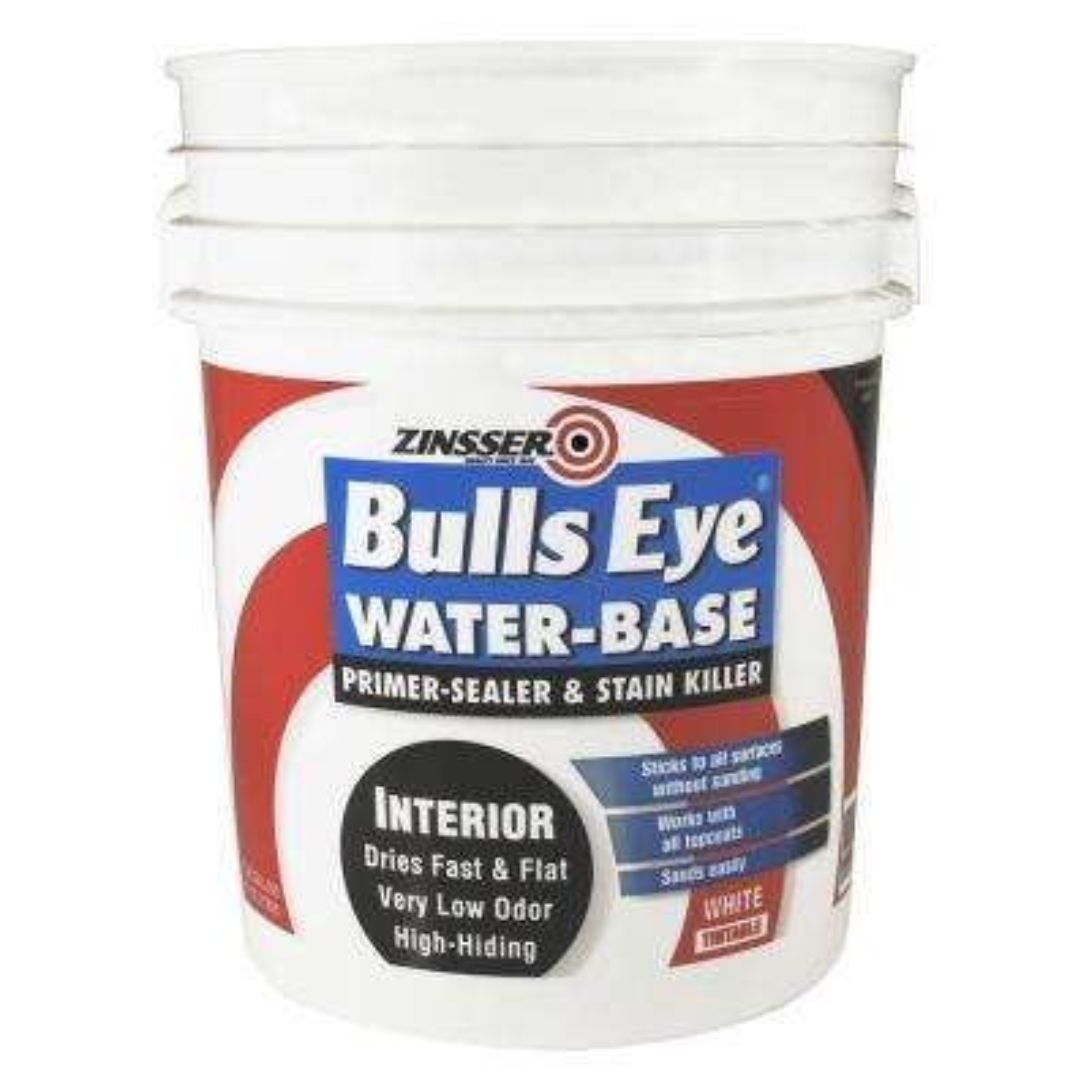 Bulls Eye 5 gal. White Water-Base Interior Primer and Sealer