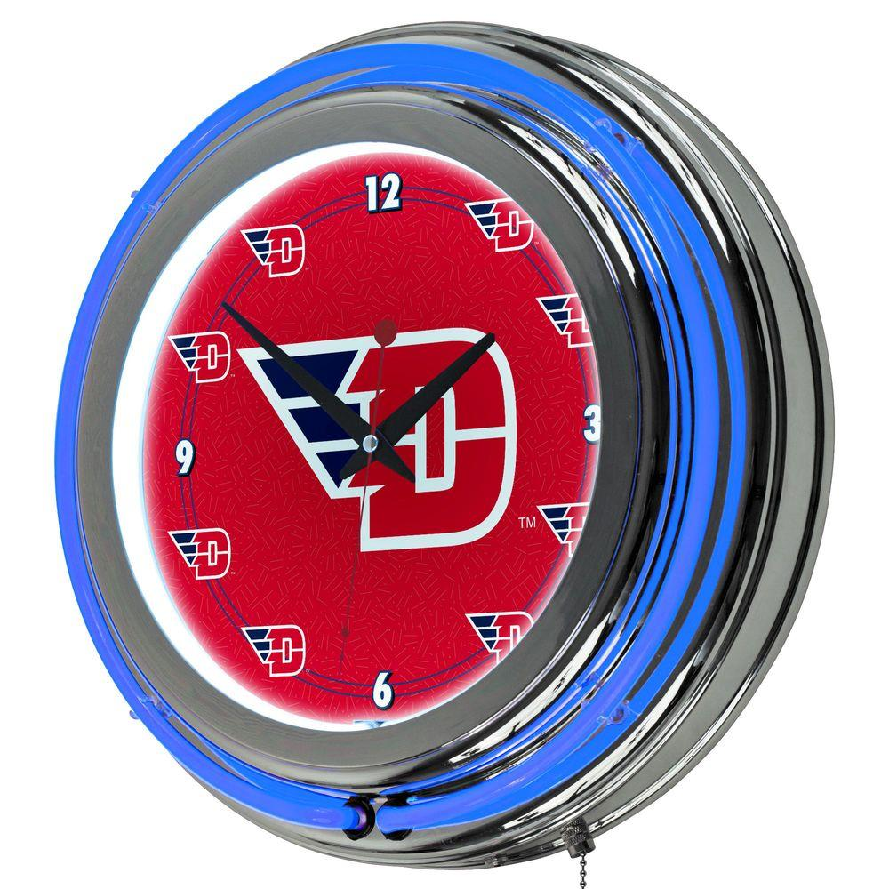 Trademark Global University of Dayton 14 in. Neon Wall Clock