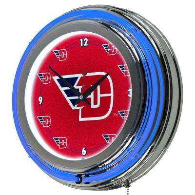University of Dayton 14 in. Neon Wall Clock
