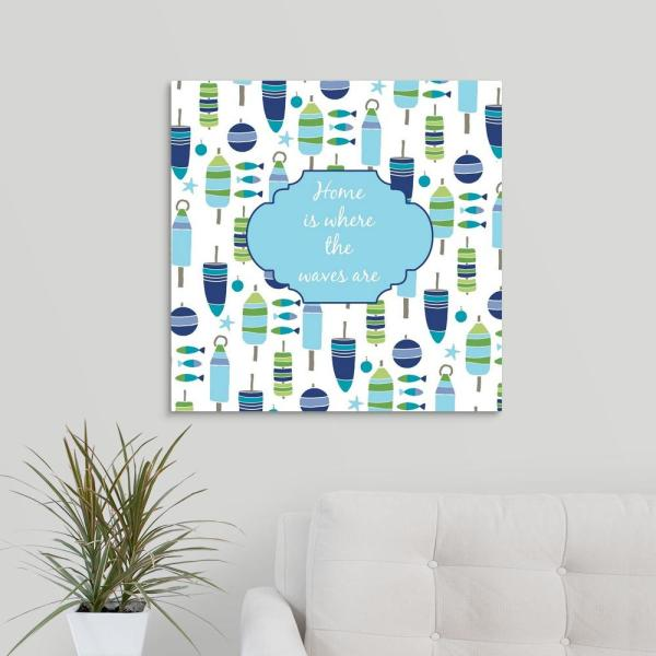 Greatbigcanvas Home Is Where The Waves Are By Suzanne Nicoll
