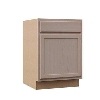 Hampton Assembled 24x34.5x24 in. Base Kitchen Cabinet in Unfinished Beech
