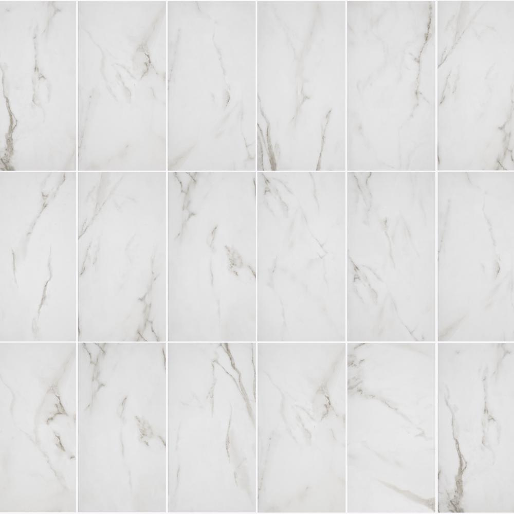 Florida Tile Home Collection Michelangelo White 9 In X 18 Ceramic Wall 17 44 Sq Ft Case