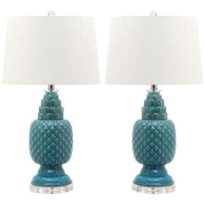 Blakely 28 in. Blue Table Lamp (Set of 2)