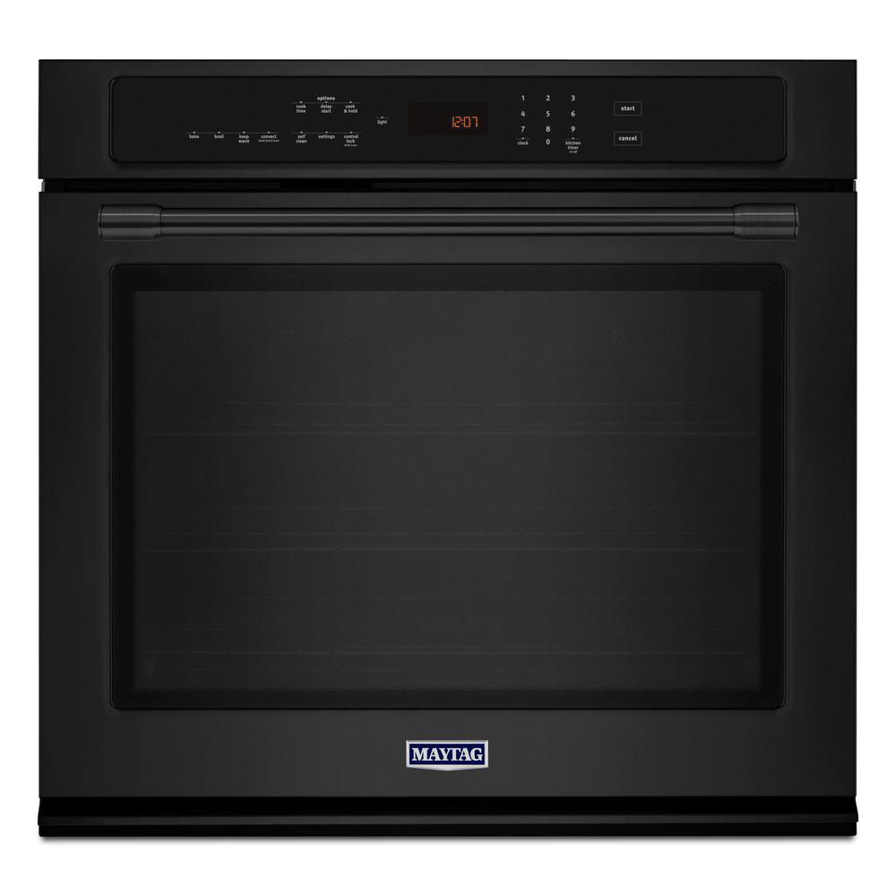 Whirlpool 24 In Single Electric Wall Oven In Black