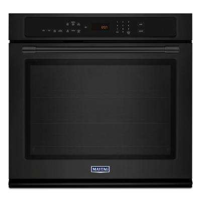30 in. Single Electric Wall Oven with Convection in Black