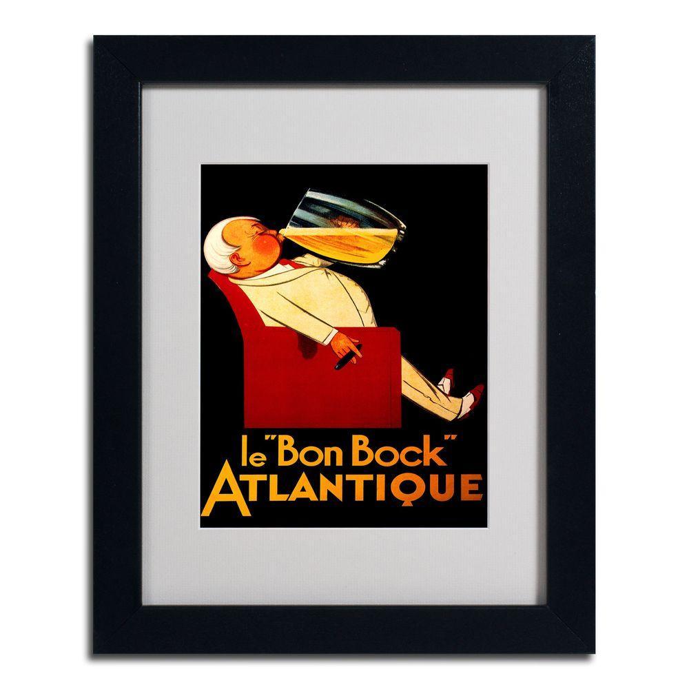 "Trademark Fine Art 16 in. x 20 in. ""Bon Bock"" Black Matted Framed Art"