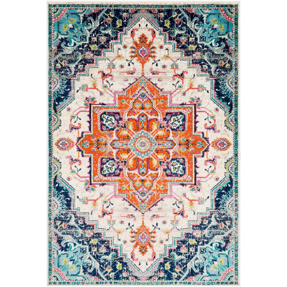 Artistic Weavers Sora Orange 6 ft. 7 in. x 9 ft. 6 in. Oriental Area Rug