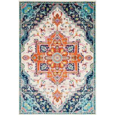 Sora Orange 6 ft. 7 in. x 9 ft. 6 in. Oriental Area Rug