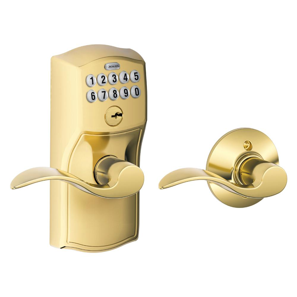 Schlage Elan Satin Chrome Keypad Electronic Door Lever