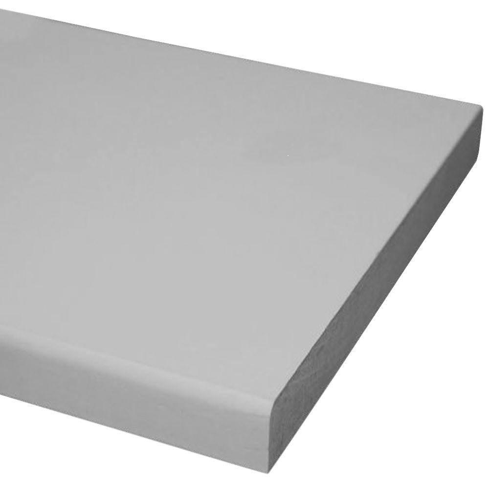 1in. x 8 in. x 8 ft. Primed MDF Board