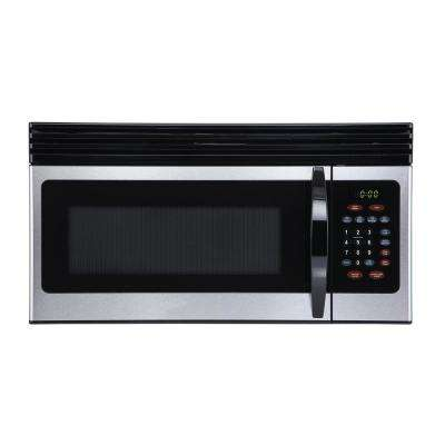 1.6 cu. Ft. Over-the-Range Microwave with Top Mount Air Recirculation Vent in Stainless Steel