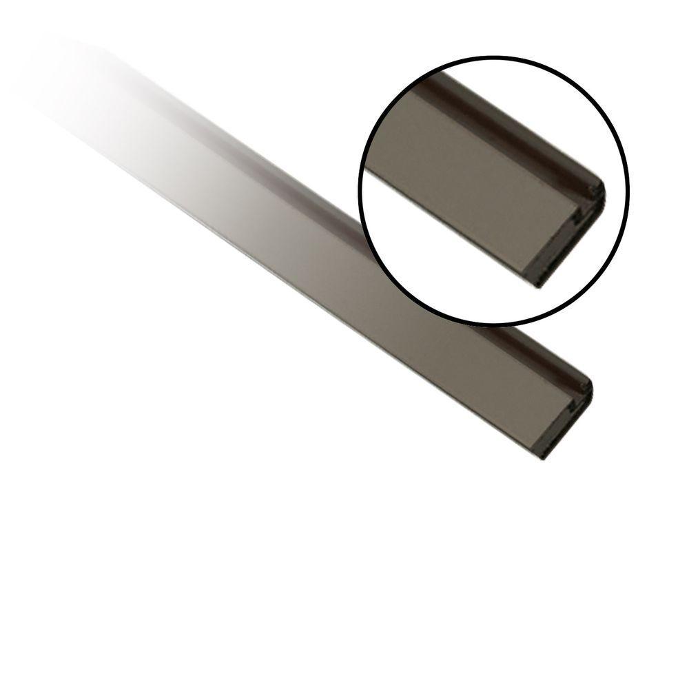 null 5/16 in. x 3/4 in. x 7 ft. Bronze Aluminum Screen Frame