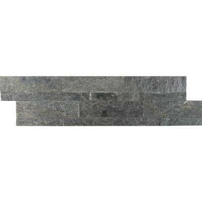 Salvador Gray Ledger Panel 6 in. x 24 in. Natural Quartzite Wall Tile (8 sq. ft. / case)