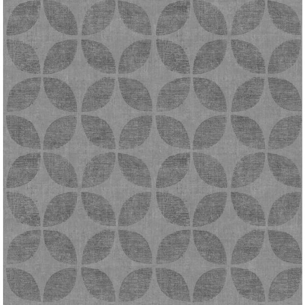 Polaris Blue Geometric Wallpaper Sample