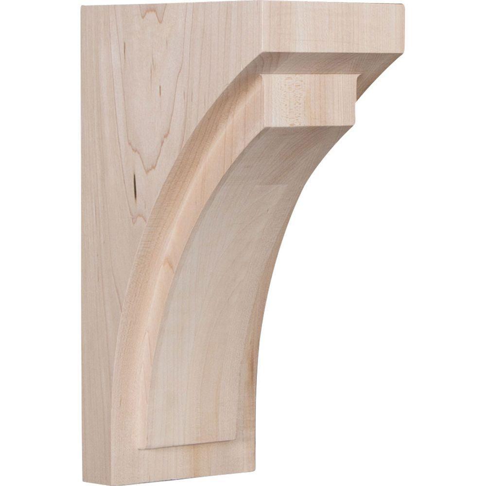 4 in. x 10 in. x 5-3/4 in. Red Oak Medium Felix Wood Corbel