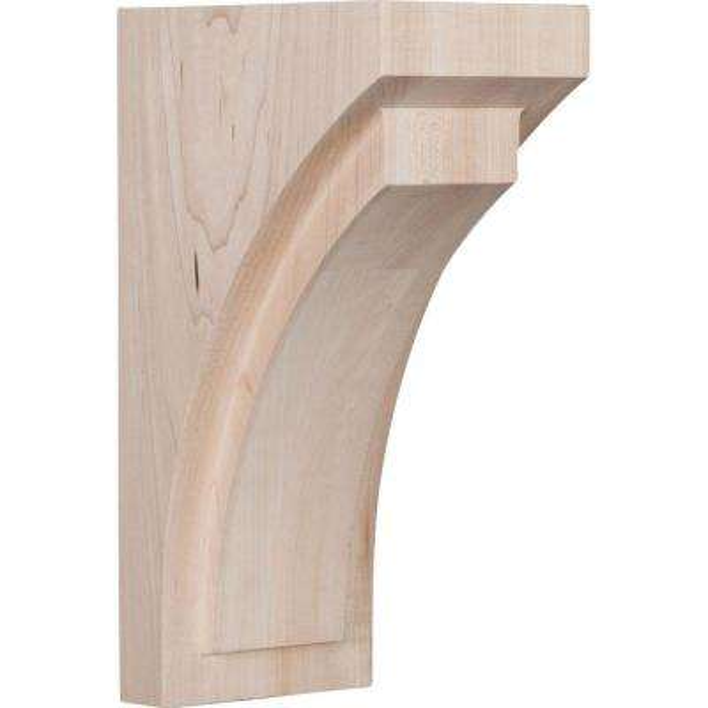 4 in. x 10 in. x 5-3/4 in. Rubberwood Medium Felix Wood Corbel