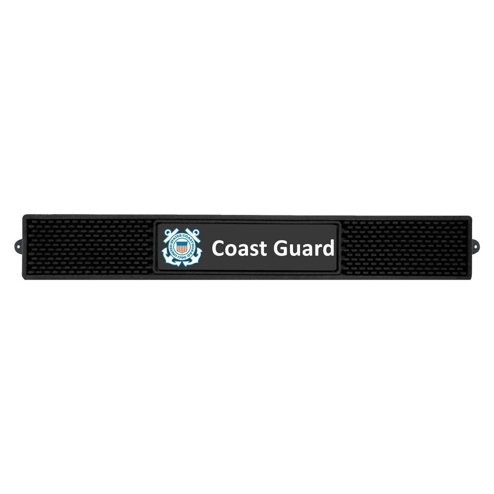 3.25 in. x 24 in. Black U.S. Coast Guard Drink Mat