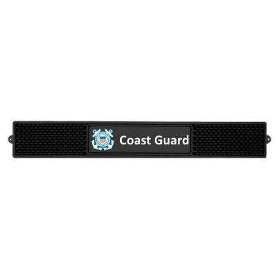 3.25 in. x 24 in. Black U.S. Coast Guard Drink Mat