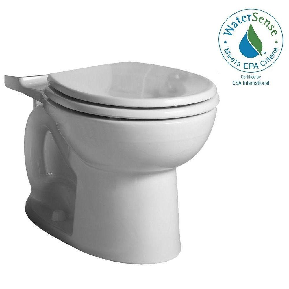 American Standard Cadet 3 Flowise Tall Height Round Toilet Bowl Only In White
