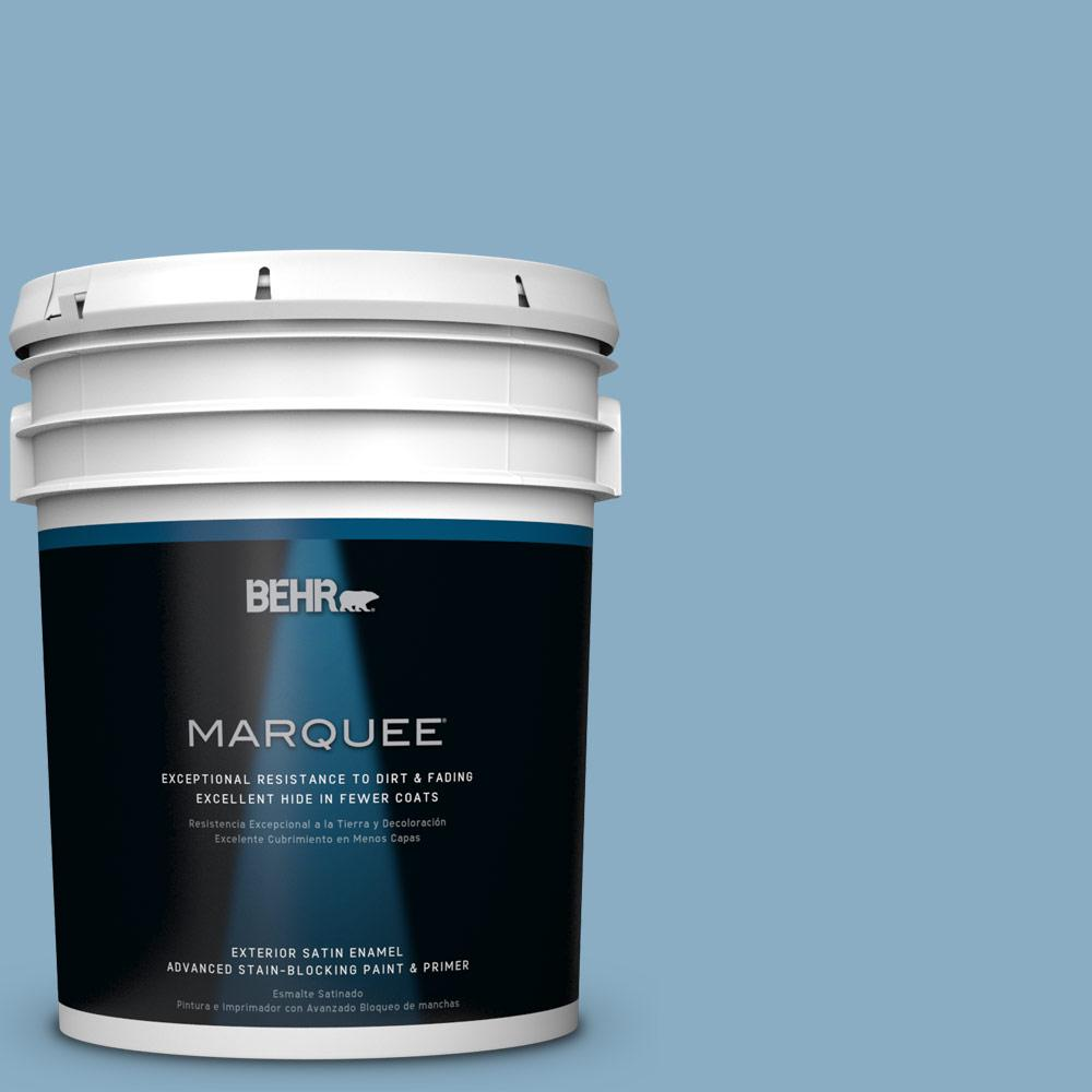 5-gal. #S500-4 Chilly Blue Satin Enamel Exterior Paint