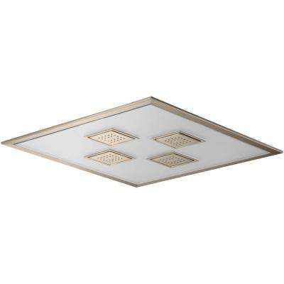 WaterTile Ambient Rain 1-spray Single Function 21 in. Overhead Showerhead in Vibrant Brushed Bronze