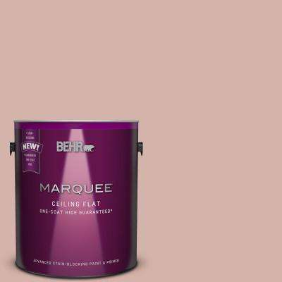 1 gal. #S170-3 Tinted to Castilian Pink One-Coat Hide Flat Interior Ceiling Paint and Primer in One