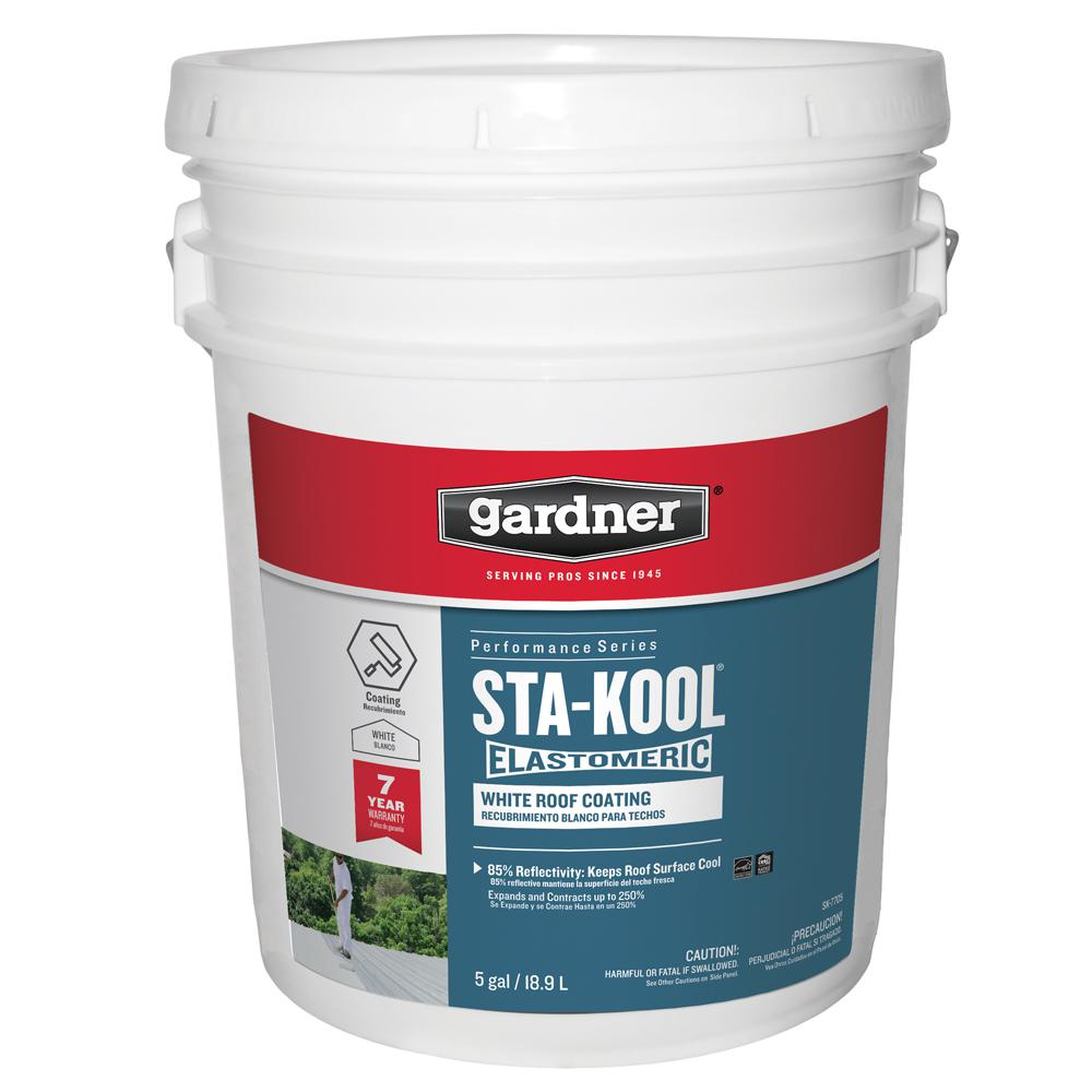 Gardner 5 Gal  Sta-Kool Elastomeric White Reflective Roof Coating