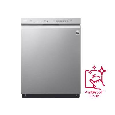 24 in. PrintProof Stainless Steel Front Control Built-In Tall Tub Dishwasher with Stainless Steel Tub, QuadWash, 48 dBA