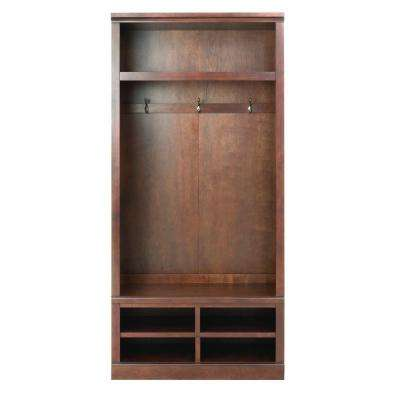 Shutter 74 in. H x 34.5 in. W x 18 in. D Modular Open Large Center Open Locker in Smoky Brown