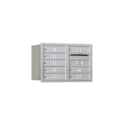 3700 Series 20 in. 5 Door High Unit Aluminum Private Rear Loading 4C Horizontal Mailbox with 8 MB1 Doors