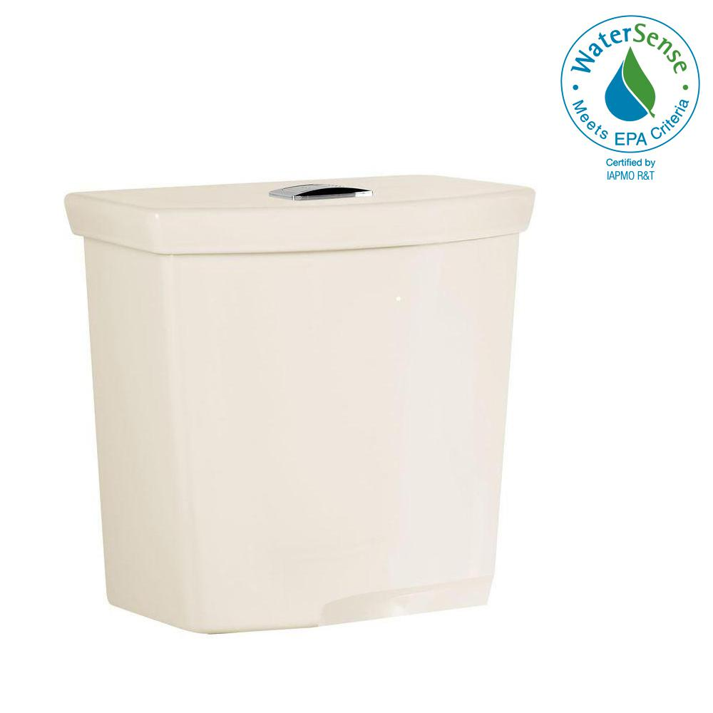 H2Option 0.92/1.28 GPF Dual Flush Toilet Tank Only in Linen