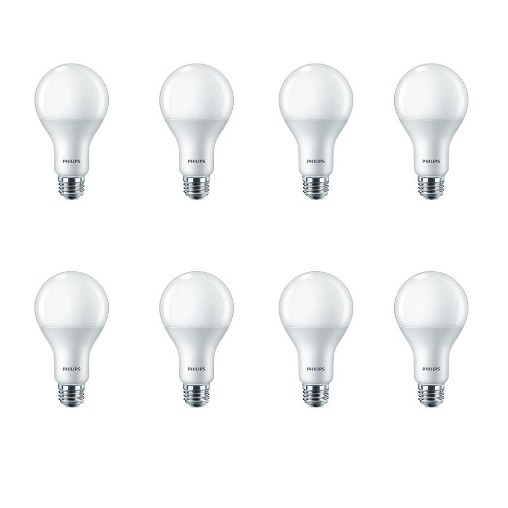 Philips 100-Watt Equivalent A21 LED Light Bulb Daylight (8-Pack)