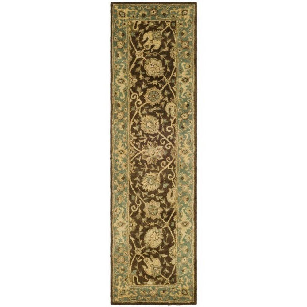 Safavieh Antiquity Brown/Green 2 ft. 3 in. x 12 ft. Runner