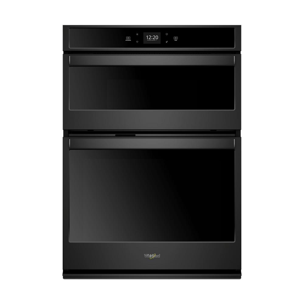 Whirlpool 30 In Electric Smart Wall Oven With Built Microwave And Touchscreen Black