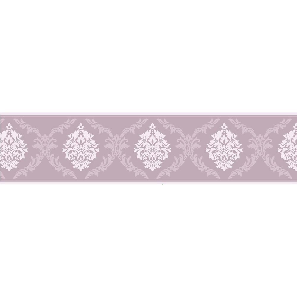 Brewster Clarice Damask Peel And Stick Wallpaper Border